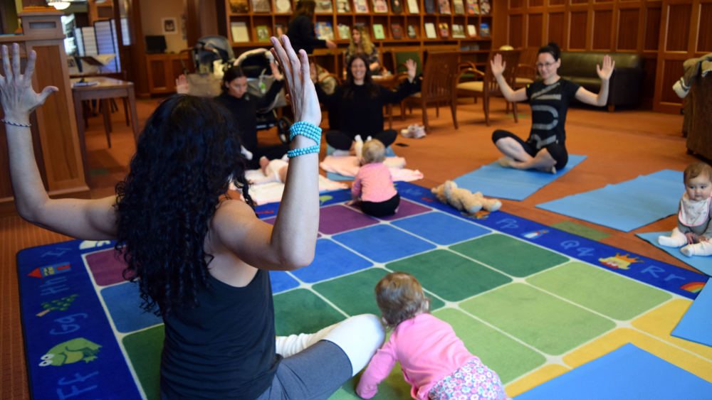 young families, yoga